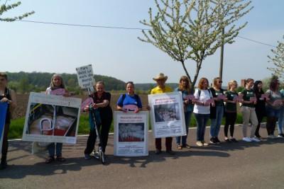 Demo Schweinehochhaus Maasdorf, AGfaN-Mitglieder